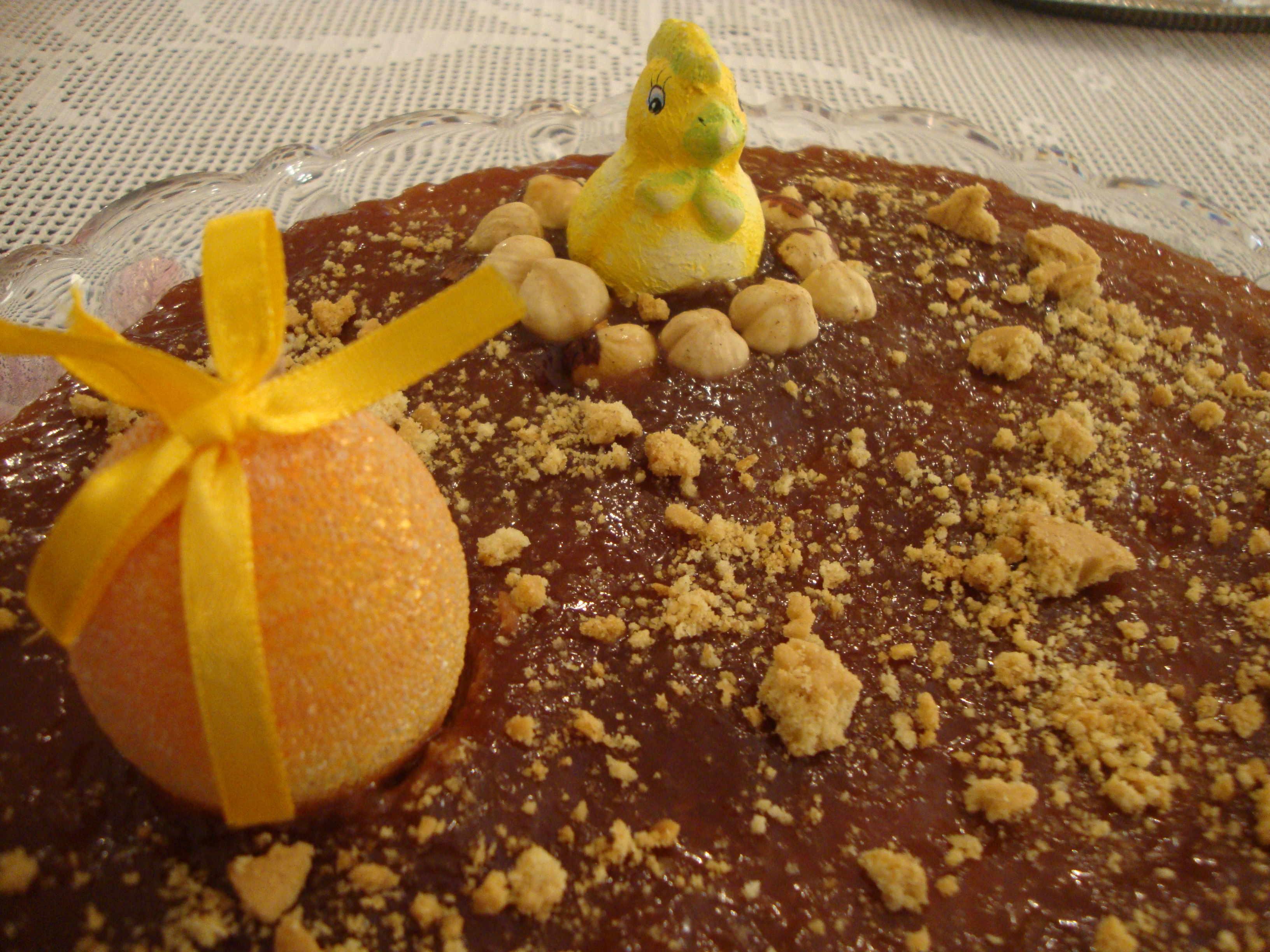 Πασχαλινό Cheesecake με σοκολάτα και πορτοκάλι