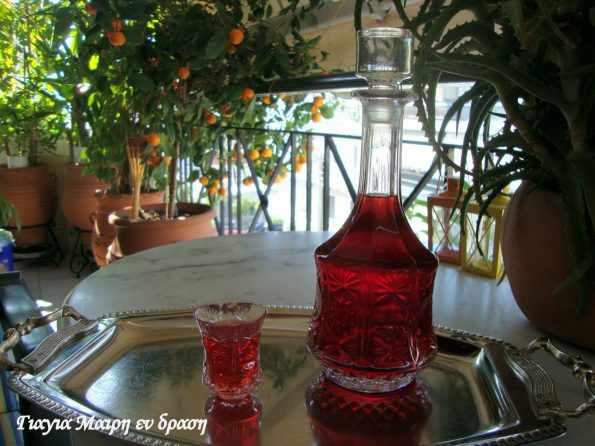 Λικέρ φράουλας με τσίπουρο