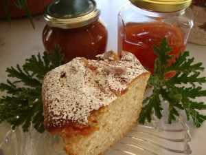 Κέικ μαρμελάδας κυδώνι