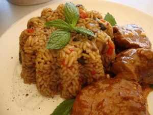 χτένι με ρύζι