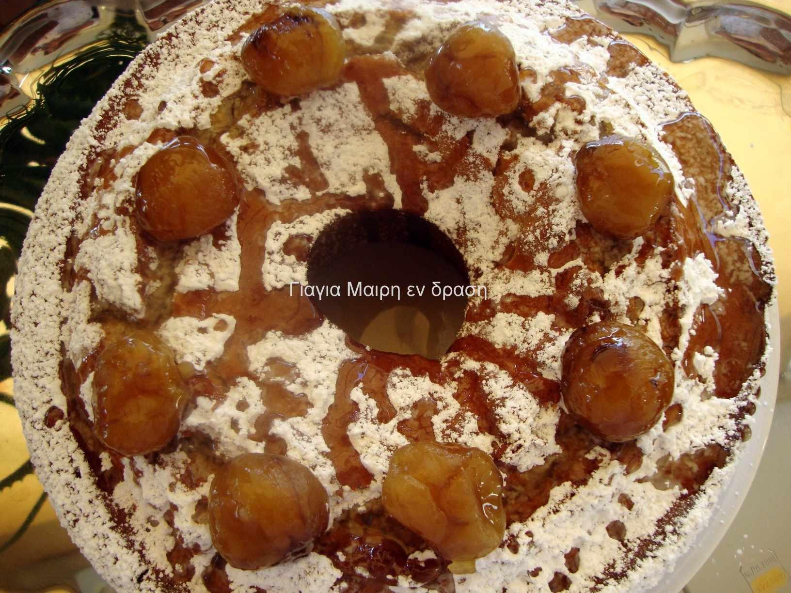 Κέικ μαρμελάδας κάστανο