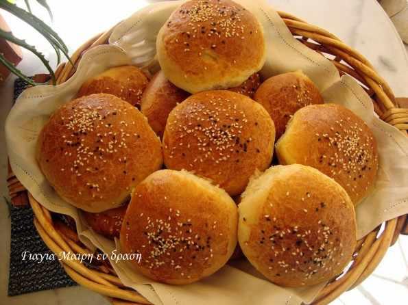 Ψωμάκια χάμπουργκερ by Mairh