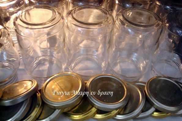 Αποστείρωση βάζων για μαρμελάδες και γλυκά κουταλιού και τουρσια!