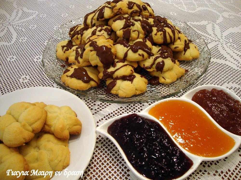 Μπισκότα βουτύρου με λεμόνι και πορτοκαλί