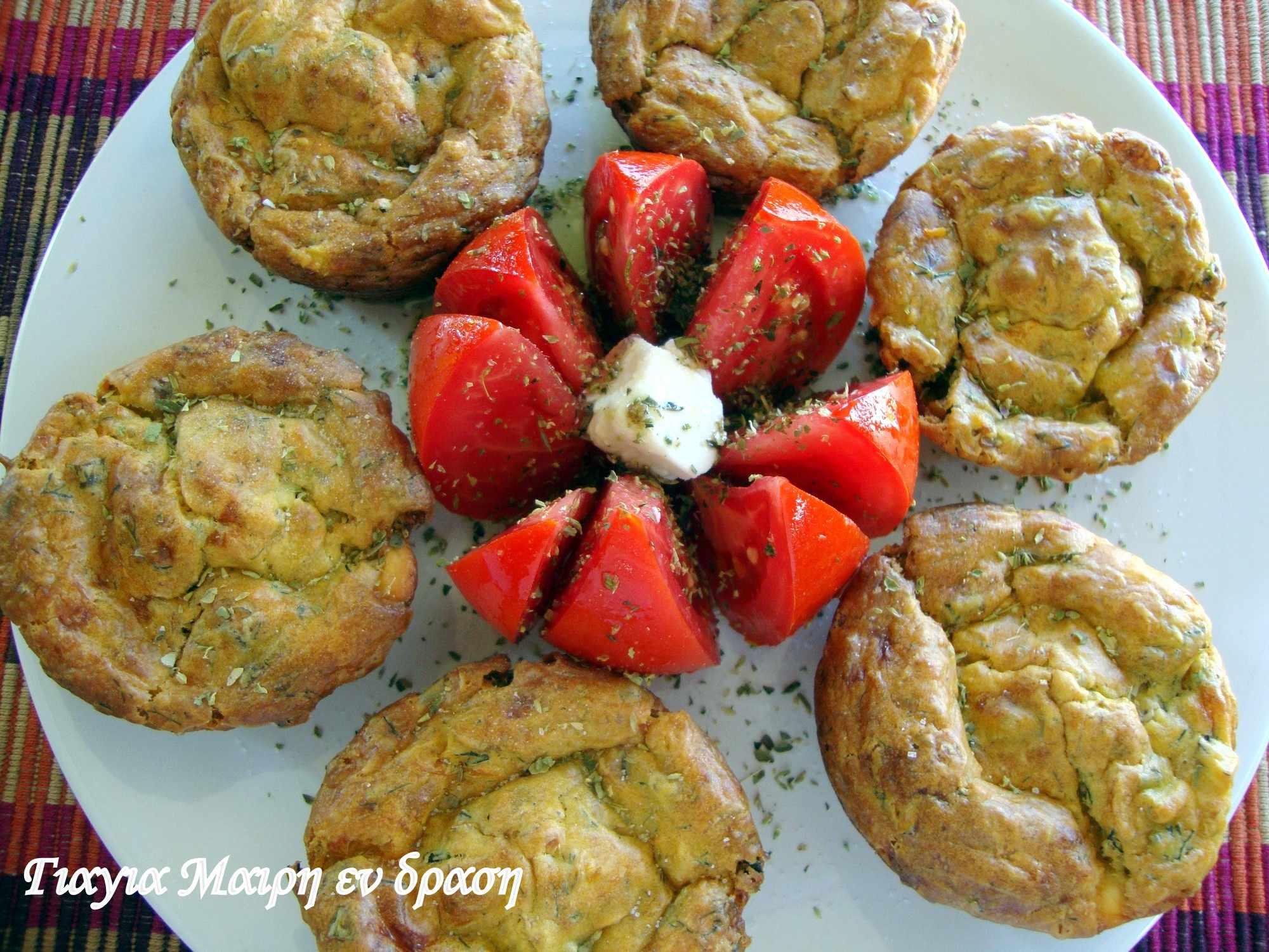 muffins με κολοκυθοανθούς