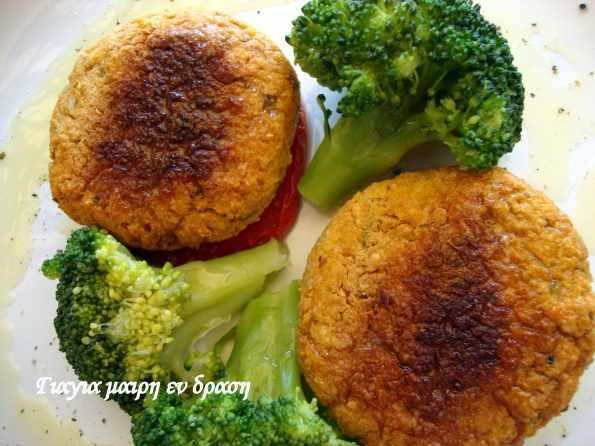 Μπιφτέκια με όσπρια και λαχανικά