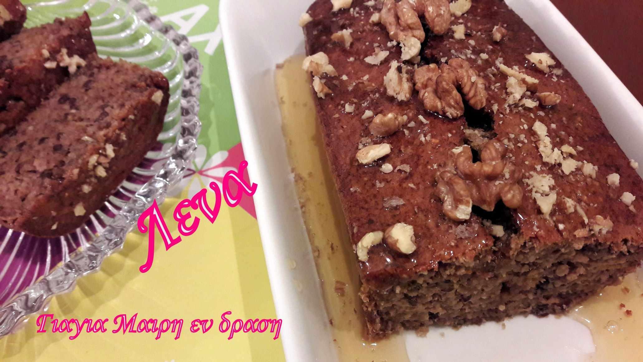 κέικ πρωτεΐνης με βρώμη και λιναρόσπορο
