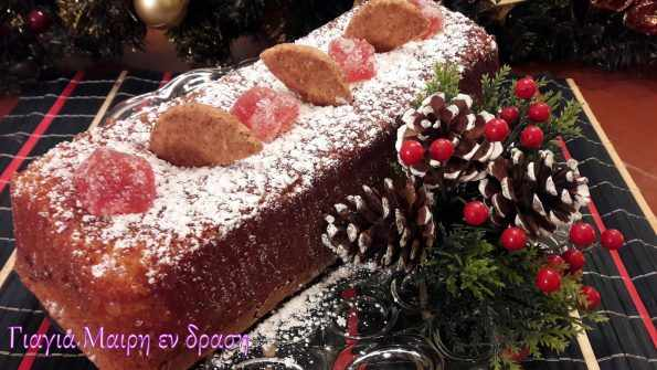 Κέικ με ζελεδάκια και πραλίνα