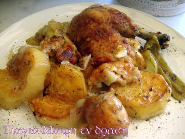 Κότα στην λαδόκολλα