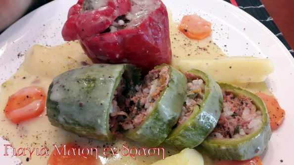 Γεμιστά κατσαρόλας με λεμονάτη κρέμα