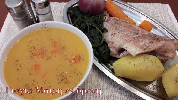 Αλιπη διατροφη Ψαροσουπα 2-3 μεριδες